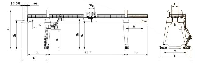 Double Girder Gantry Crane A type| Yteng Gantry Crane